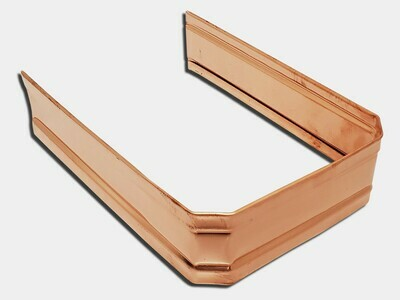 Corrugated Square Copper Downspout Strap