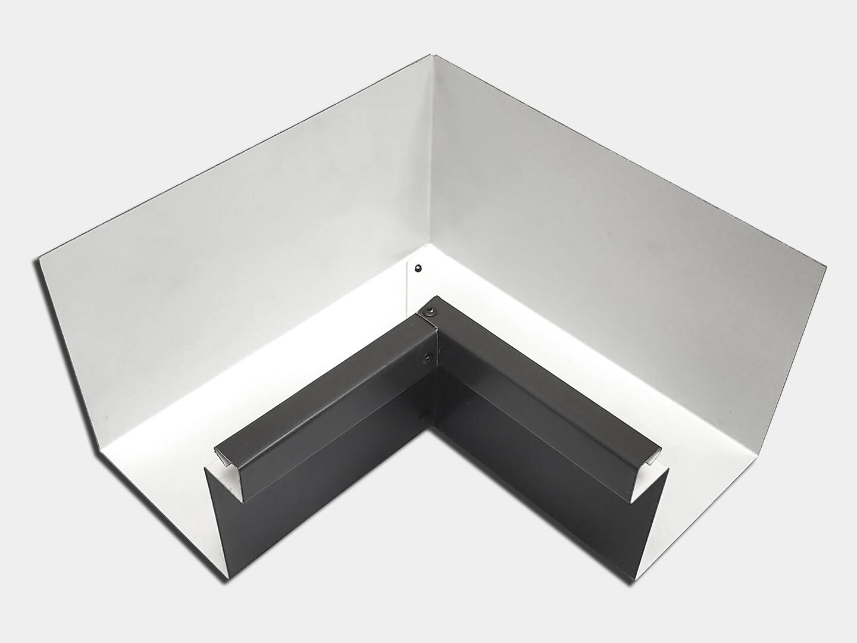 Kynar Steel Commercial Box Gutter Inside Miter