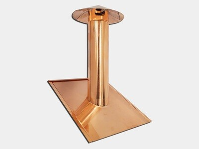 Pipe Roof Vent Stack Cover with Mounting Flange