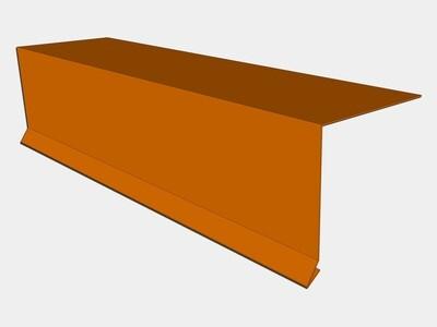 Copper Drip Edge with Kick