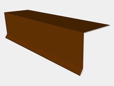 24 Gauge Kynar Steel Drip Edge with Kick