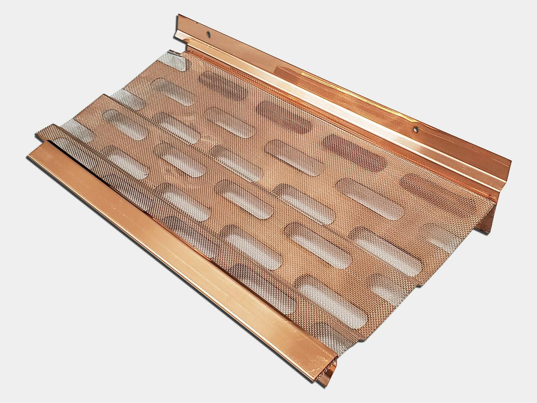 LeafBlaster Copper Gutter Screen