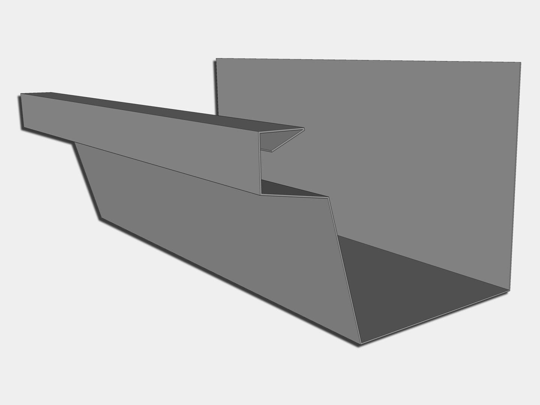 24 Gauge Galvalume Industrial Box Gutter