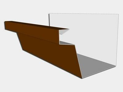 24 Gauge Kynar Steel Industrial Box Gutter