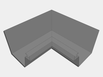 Galvalume Industrial Box Gutter Inside Miter