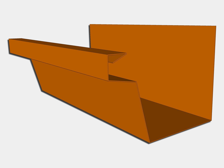 Copper Industrial Box Gutter