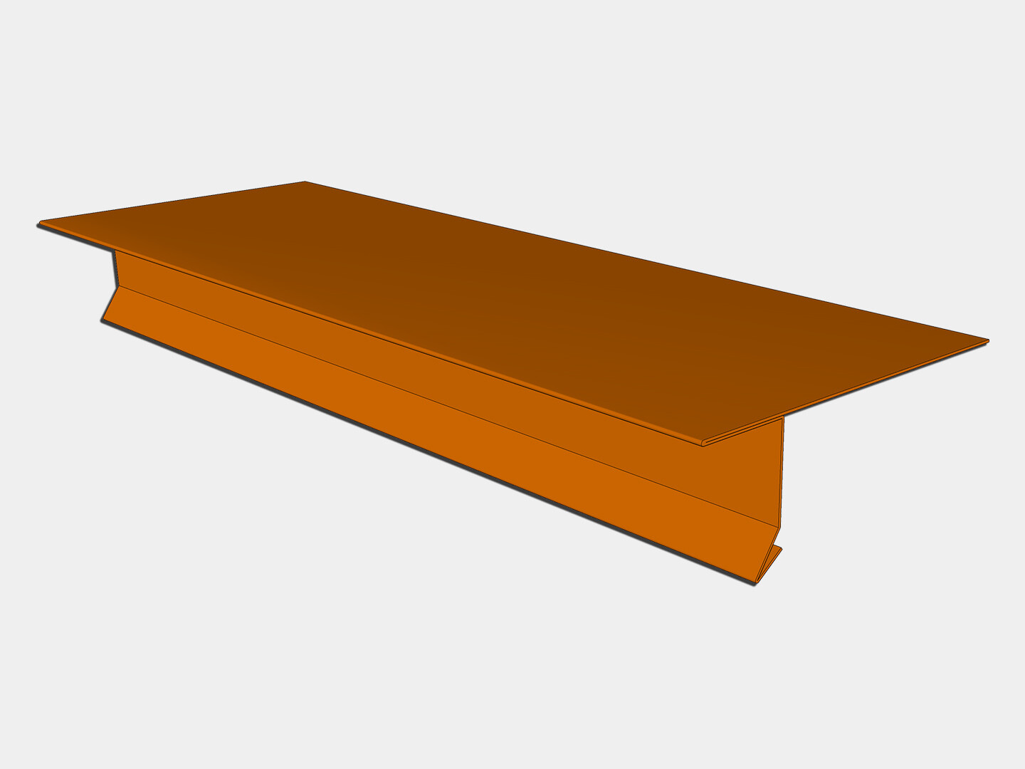 Copper T-Style Locking Drip Edge with Kick