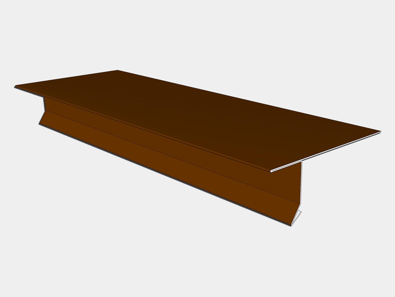 24 Gauge Kynar Steel T-Style Locking Drip Edge with Kick