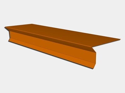 Copper D-Style Shingle Roof Drip Edge with Kick
