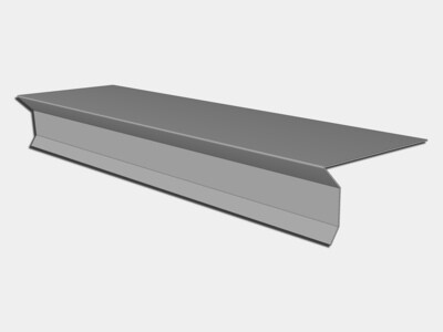 Galvalume D-Style Shingle Roof Drip Edge with Kick