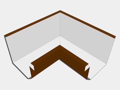 Kynar Steel Residential Box Gutter Inside Miter
