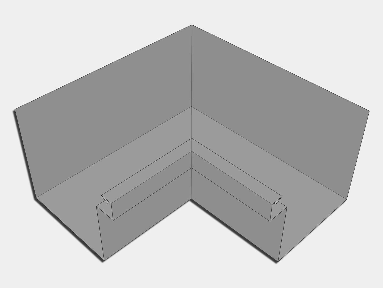 Galvalume Commercial Box Gutter Inside Miter