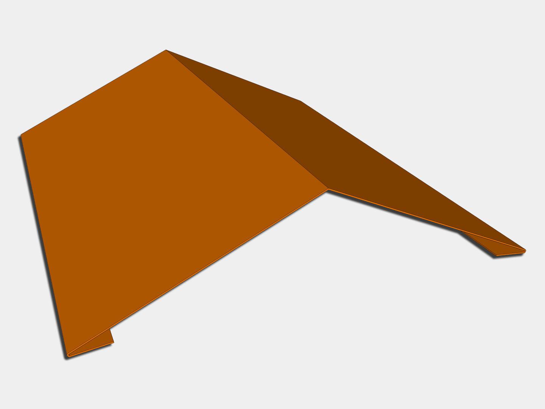 Copper Ridge Cap Roof Flashing