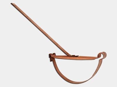 Copper Rival Strap Hanger for Half Round Gutter