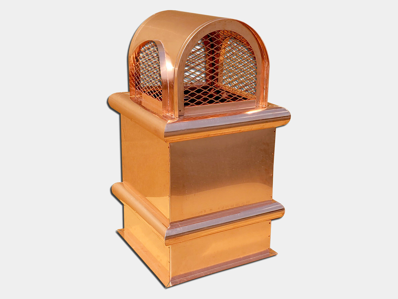 The Hard Hat Copper Chimney Pot