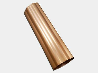 Round Corrugated Copper Downspout