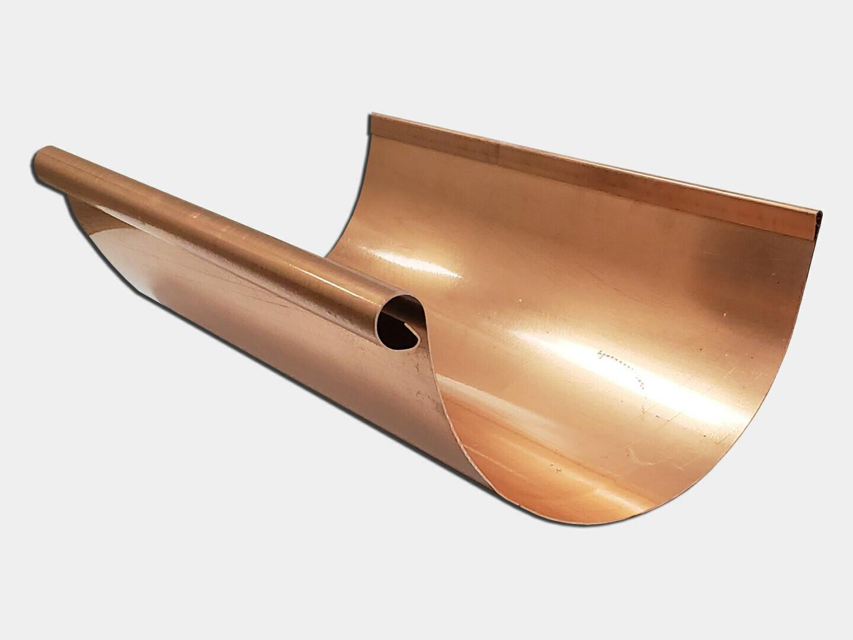 Euro Bead Copper Half Round Gutter