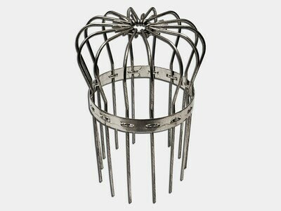 Aluminum Downspout Wire Strainer