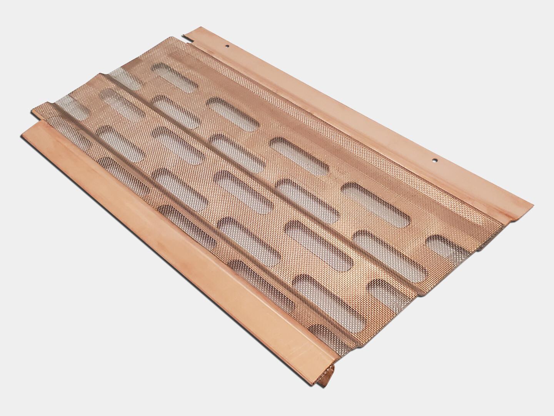 KM Under Roof Copper Gutter Screen