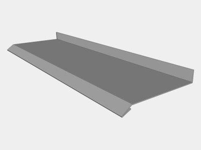 Custom Stainless Steel Masonry Drip Edge with Back