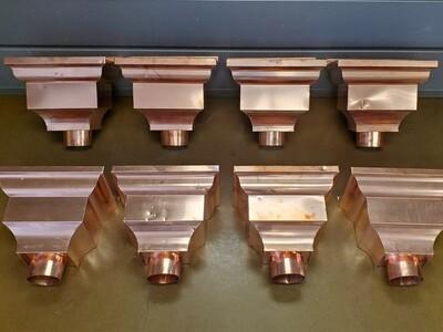 SALE - Damaged - 20 oz. Copper Federal Conductor / Leader Heads