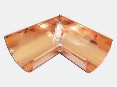 Copper Half Round Gutter Inside Miter
