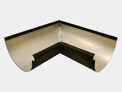 Kynar Steel Half Round Gutter Inside Miter