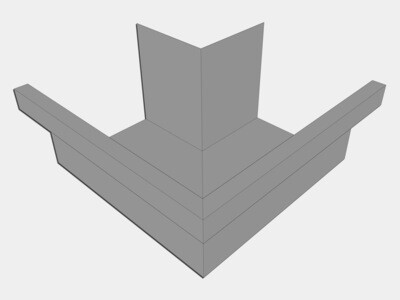Galvalume Commercial Box Gutter Outside Miter