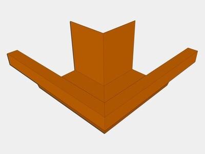 Copper Industrial Box Gutter Outside Miter