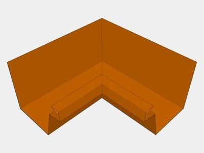Copper Industrial Box Gutter Inside Miter