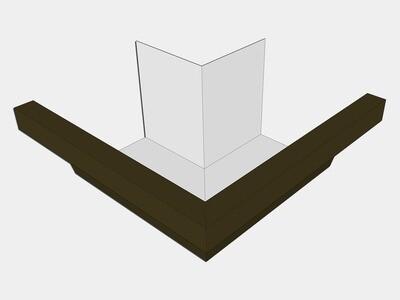 Kynar Steel Industrial Box Gutter Outside Miter