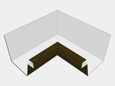 Kynar Steel Industrial Box Gutter Inside Miter