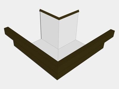 Kynar Steel Residential Box Gutter Outside Miter