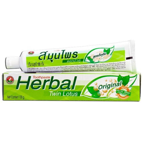 Травяная зубная паста Twin Lotus 100 гр