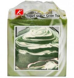 Мыло ручной работы Йогурт и Зеленый чай