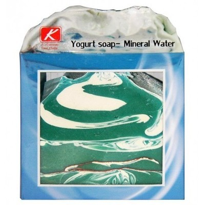 Мыло ручной работы Йогурт и Минеральная вода