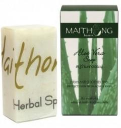 Натуральное мыло Алое-вера 100 гр, Maithong Aloe Vera Soap