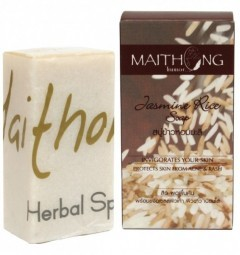 Натуральное мыло Жасминовый Рис 100 гр, Maithong Jasmine Rice Soap