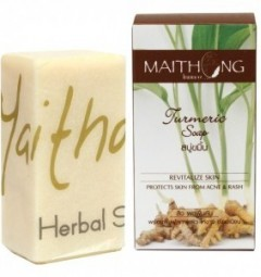 Натуральное мыло с куркумой 100 гр, Maithong Turmeric Soap