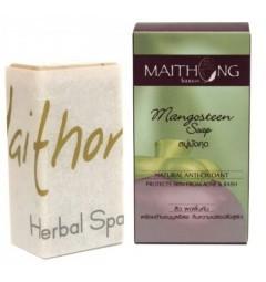 Натуральное мыло с мангустином 100 гр,Maithong Mangosteen Soap