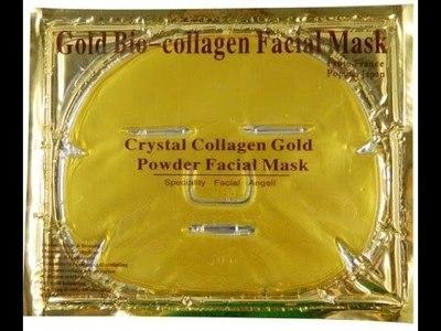 Золотая коллагеновая маска для лица