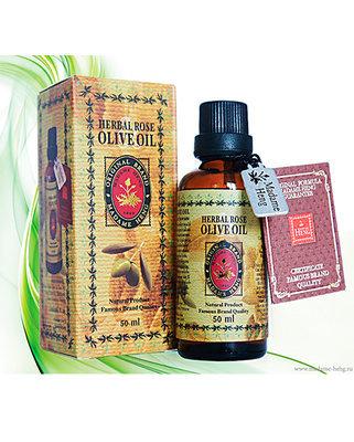 Натуральное масло оливы и розы с витамином E Madame Heng 50 мл
