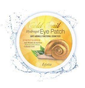 Золотые гидрогелевые патчи для кожи вокруг глаз с улиточной слизью