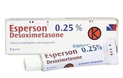Мазь против экземы, псориаза, аллергии на основе дезоксиметазона 5 гр
