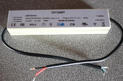 60 Watt 12 Volts L.E.D. driver EXTÉRIEUR (imperméable)
