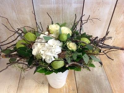 Blumenstrauss Quer Weiss