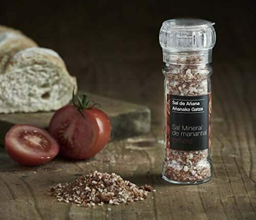 Sal de Añana Molinillo de Sal mineral de Manantial con Tomate 75g