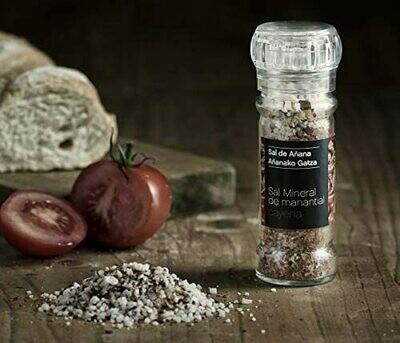 Sal de Añana Molinillo de Sal mineral de Manantial con Cayena 75g