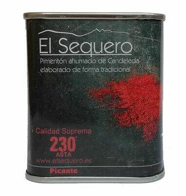 EL SEQUERO: Lata de Pimentón Ahumado Picante 70g