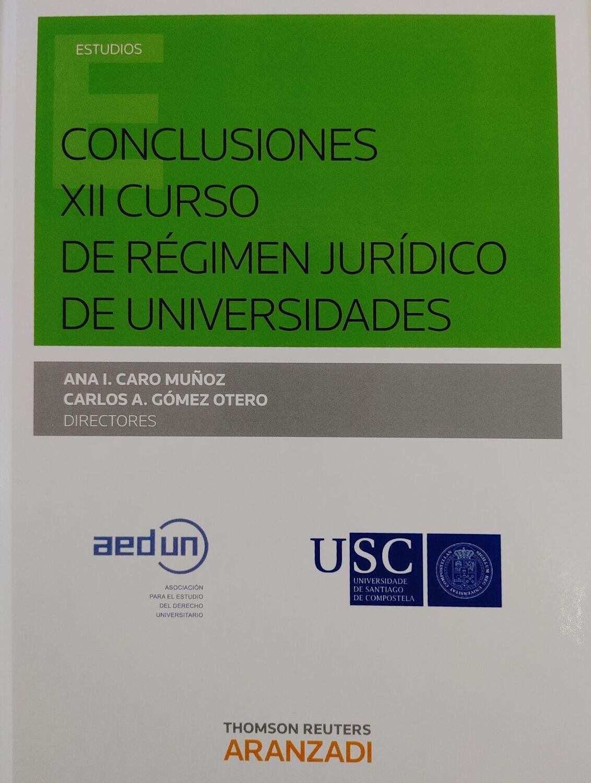 Conclusiones XII curso de Régimen Jurídico de Universidades